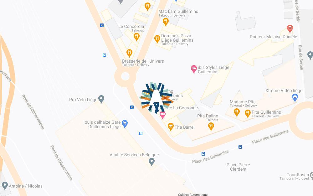 Map - Place Des Guillemins 51a 4000 Liège Belgique
